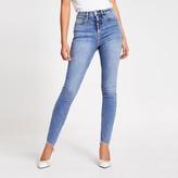 River Island Blue Hailey high rise skinny jeans