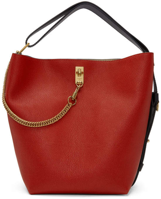Givenchy Red Medium GV Bucket Bag