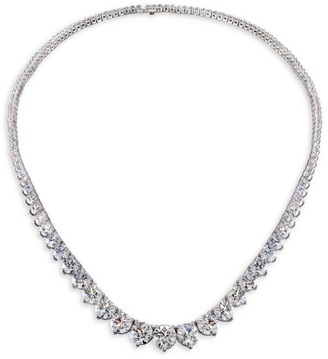 Hearts On Fire Temptation 18K White Gold & Diamond 3-Prong Collar Necklace