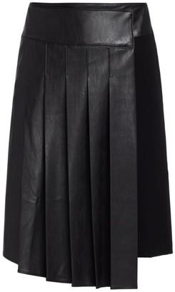 Bailey 44 Rowan Faux-Leather Pleated Midi Skirt