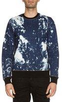 DSQUARED2 Side-Zip Bleached Denim Sweatshirt