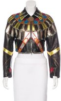 Givenchy 2016 Leather Python-Trimmed Jacket