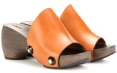 Chloé Izzy Leather Platform Clogs