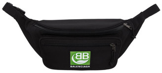 Balenciaga Black Green Logo Explorer Belt Pack