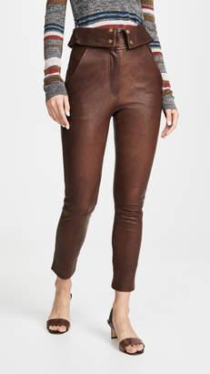 Veronica Beard Minerva Leather Pants