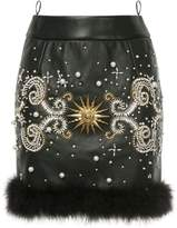 Fausto Puglisi jewelled mini skirt