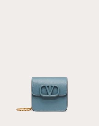 Valentino Garavani Compact Vsling Grainy Calfskin Wallet With Chain Strap Women Amadeus 100% Pelle Di Vitello - Bos Taurus OneSize