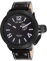 Jet Set – j1142b-267 – San Remo – Men's Watch – Analogue Quartz – Black Dial – Black Leather Strap
