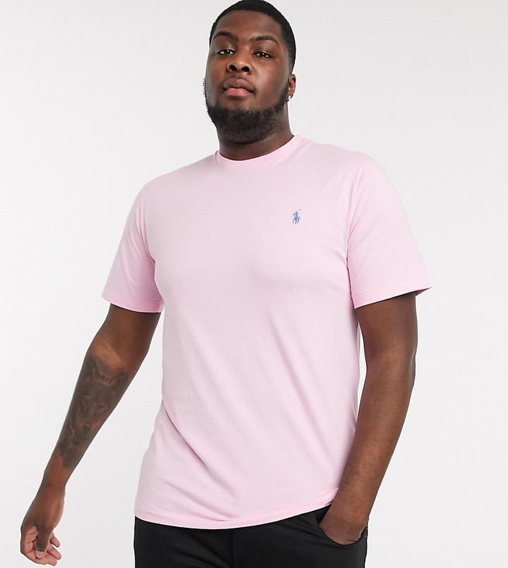 Polo Ralph Lauren Big & Tall player logo t-shirt in pink