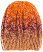 Missoni cable knit beanie