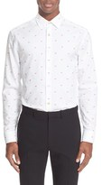 Paul Smith Men's 'Lips' Trim Fit Jacquard Dress Shirt