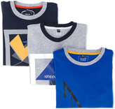 Armani Junior set of three graphic print T-shirts - kids - Cotton - 4 yrs