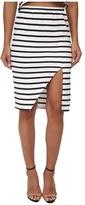 MinkPink Stripe Maxi Split Skirt