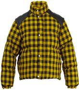 Gucci Gingham-check sleeve detachable padded jacket