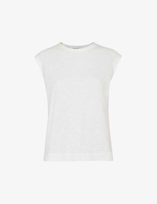 Whistles Sleeveless cotton-jersey T-shirt