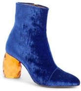 Dries Van Noten Women's Faceted Heel Pointy Toe Bootie