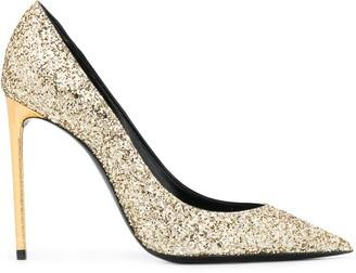 Saint Laurent Zoe 110mm glitter-embellished pumps