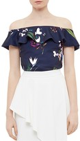 Ted Baker Tropical Oasis Off-the-Shoulder Top