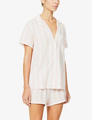 Eberjey Umbrella stripe-print cotton-blend pyjama set