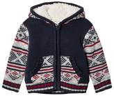 Absorba Blue Fairisle Knit Jacket with Teddy Lining
