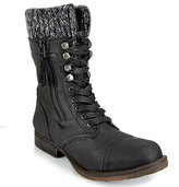 Steve Madden Jaax - Black Leather Combat Boot