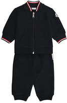 Moncler Terry Track Jacket w/ Pants, Navy, Size 12M-3