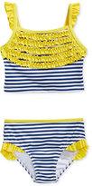 Penelope Mack 2-Pc. Striped Ruffled Bikini Swimsuit, Toddler Girls (2T-4T) & Little Girls (2-6X)