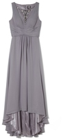 Vince Camuto Illusion-neckline Gown