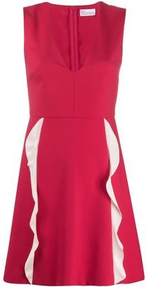 RED Valentino Ruffle Flared Dress