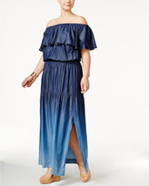 INC International Concepts Plus Size Off-The-Shoulder Ombre Dress, Created for Macy's