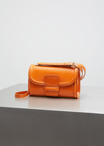 Dries Van Noten orange patent leather shoulder bag