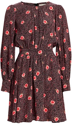 By Ti Mo Desire Floral Fit-and-Flare Dress