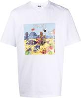 MSGM Rimini printed boxy T-shirt