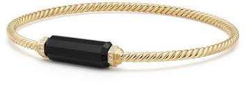David Yurman Onyx Barrel & Diamond Bracelet, Size M