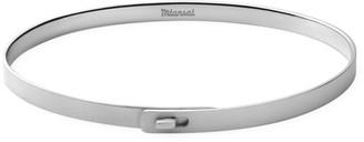 Miansai Sterling Silver Thin Cuff Bracelet