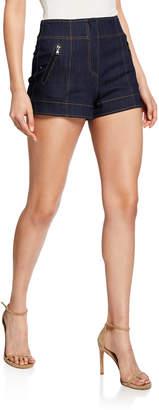 Cinq à Sept Marla High-Rise Denim Shorts