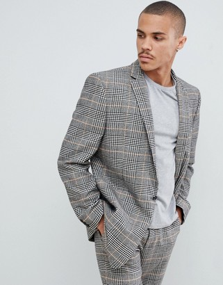 Asos Design DESIGN oversized suit jacket in black and white check