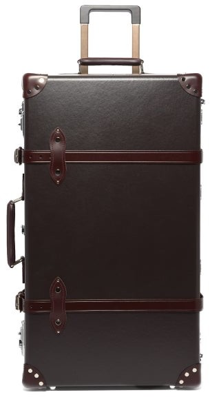 "Globe-trotter Centenary 30"" Suitcase - Dark Brown"
