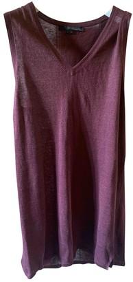 360 Sweater Burgundy Linen Dress for Women