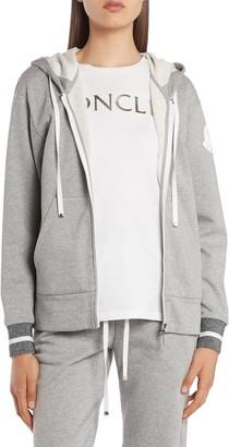 Moncler Metallic Cuff Zip Hoodie