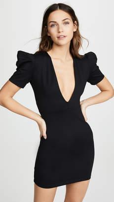 Susana Monaco Deep V Mini Dress