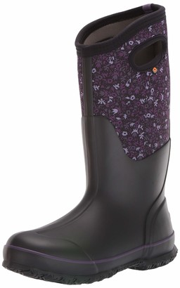 Bogs womens Classic Tall Freckle Flower Waterproof Rain Boot