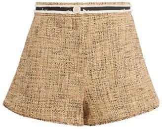 Sandro Paris High-Waist Tweed Shorts