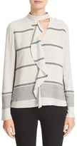 Derek Lam 10 Crosby Ruffle Trim Stripe Shirt