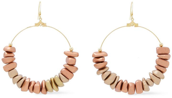Kenneth Jay Lane 22-karat Gold-plated Resin Earrings