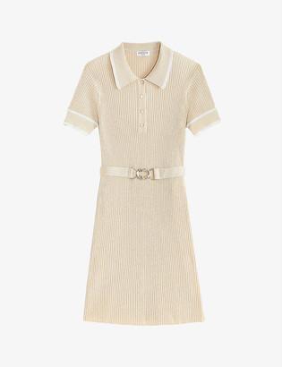Claudie Pierlot Macaron woven mini dress