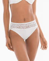 Soma Intimates Cotton/Modal with Lace High Leg Brief