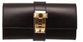 23cm Black Box Leather Medor Clutch