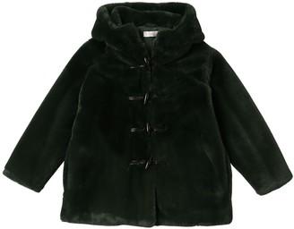 Stella Mccartney Kids Hooded Faux Fur Duffle Coat