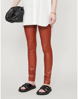 Joseph Stretch high-rise leather leggings